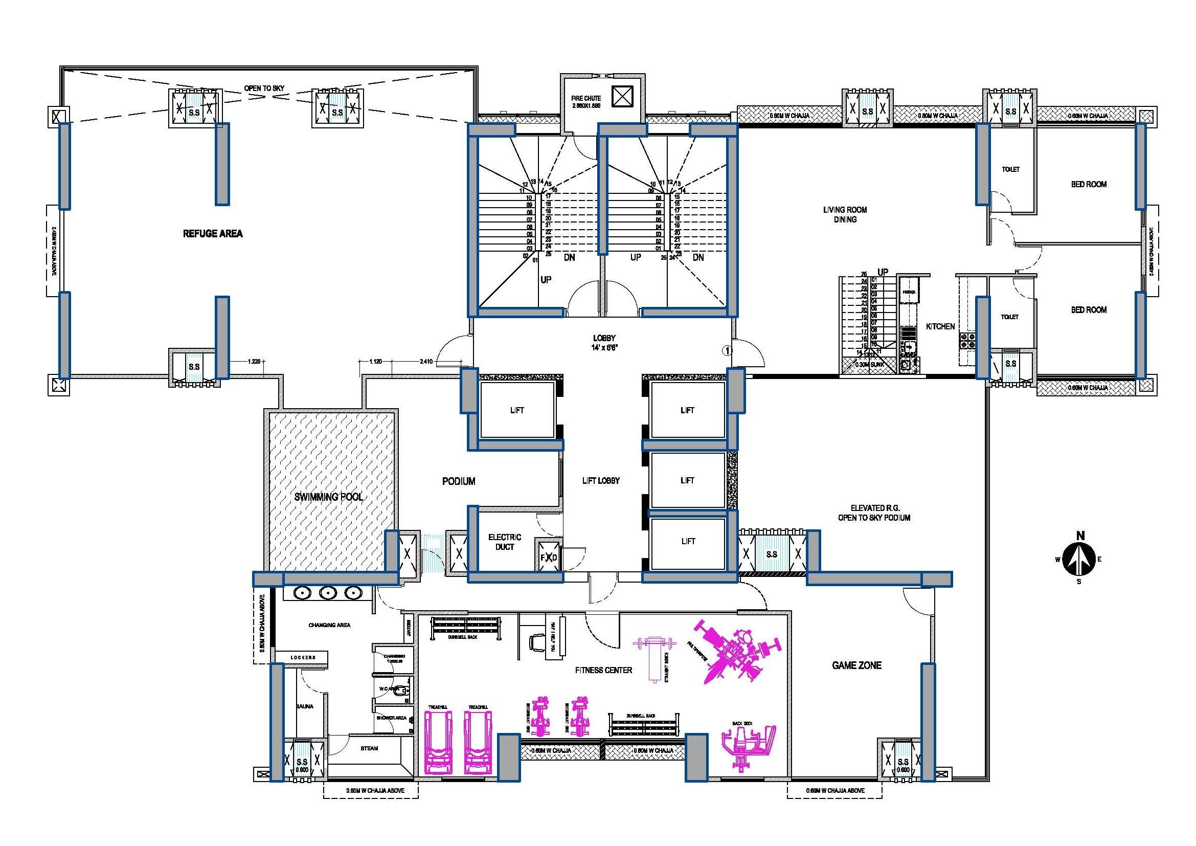 Vora skyline for Data center floor plan